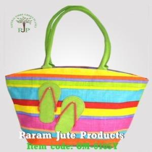 Stripe Designer Jute Bags manufacturer