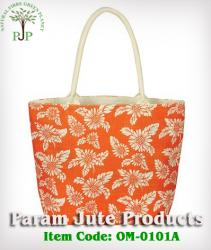 Floral Printed Jute Beach Bags manufacturer