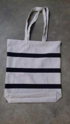 Cotton striped tote bags